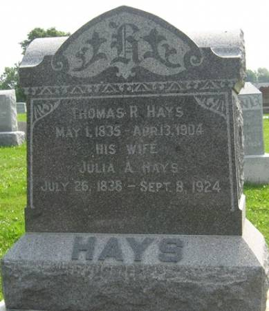HAYS, THOMAS R. - Louisa County, Iowa | THOMAS R. HAYS
