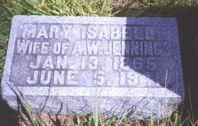JENNINGS, MARY ISABELLE - Louisa County, Iowa | MARY ISABELLE JENNINGS