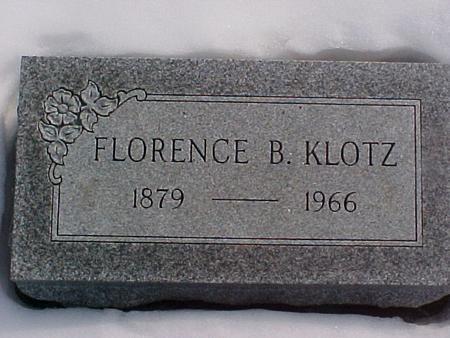 KLOTZ, FLORENCE - Louisa County, Iowa | FLORENCE KLOTZ