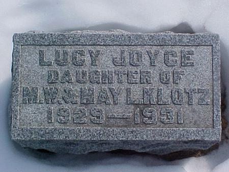 KLOTZ, LUCY - Louisa County, Iowa | LUCY KLOTZ