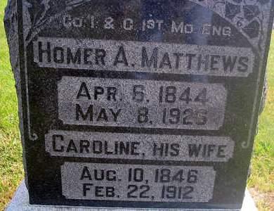 MATTHEWS, HOMER A. - Louisa County, Iowa | HOMER A. MATTHEWS