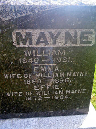 MAYNE, WILLIAM - Louisa County, Iowa | WILLIAM MAYNE