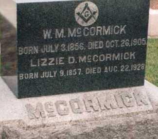 MCCORMICK, LIZZIE - Louisa County, Iowa | LIZZIE MCCORMICK