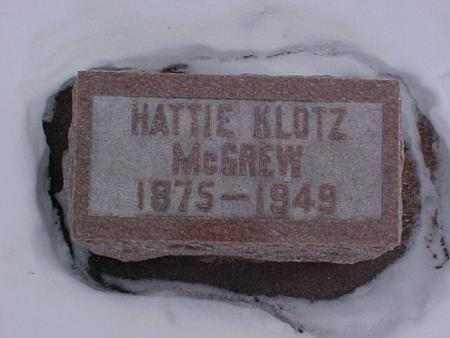 MCGREW, HATTIE - Louisa County, Iowa | HATTIE MCGREW