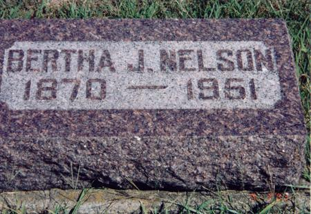 HULL NELSON, BERTHA - Louisa County, Iowa | BERTHA HULL NELSON