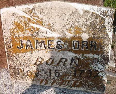 ORR, JAMES - Louisa County, Iowa | JAMES ORR