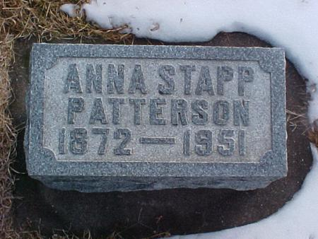 STAPP PATTERSON, ANNA - Louisa County, Iowa | ANNA STAPP PATTERSON