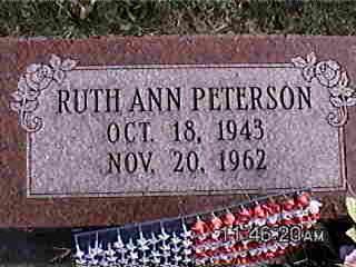 PETERSON, RUTH ANN - Louisa County, Iowa | RUTH ANN PETERSON
