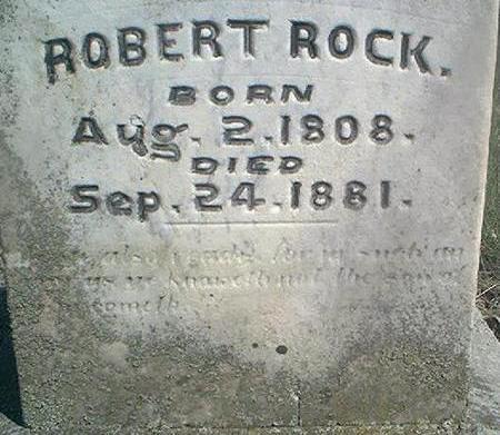 ROCK, ROBERT - Louisa County, Iowa   ROBERT ROCK