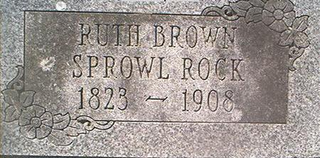 BROWN ROCK, RUTH - Louisa County, Iowa | RUTH BROWN ROCK