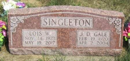 SINGLETON, J. D. GALE - Louisa County, Iowa | J. D. GALE SINGLETON