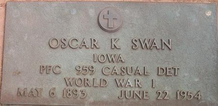 SWAN, OSCAR K.  (MILITARY) - Louisa County, Iowa | OSCAR K.  (MILITARY) SWAN