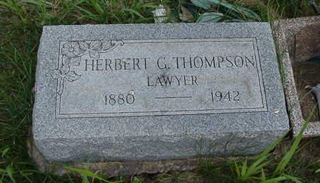 THOMPSON, HERBERT G. - Louisa County, Iowa | HERBERT G. THOMPSON