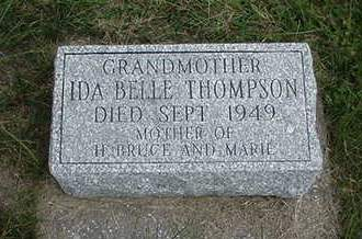 THOMPSON, IDA BELLE - Louisa County, Iowa | IDA BELLE THOMPSON