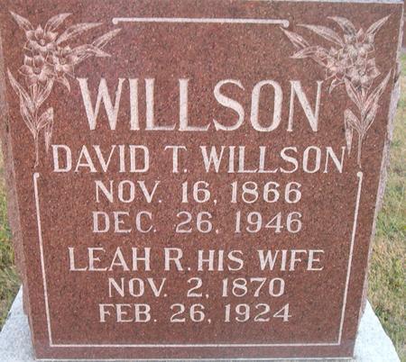 WILLSON, LEAH R. - Louisa County, Iowa   LEAH R. WILLSON