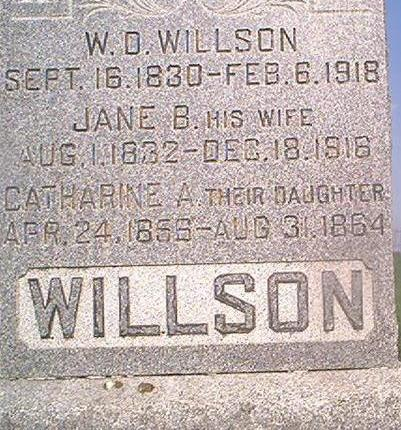 WILLSON, W.D. - Louisa County, Iowa | W.D. WILLSON