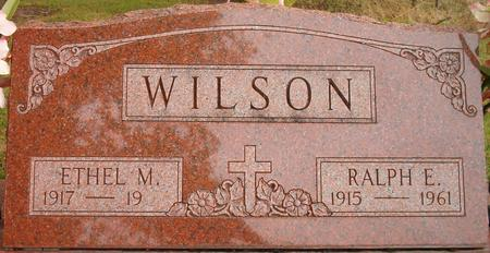 WILSON, ETHEL M. - Louisa County, Iowa | ETHEL M. WILSON