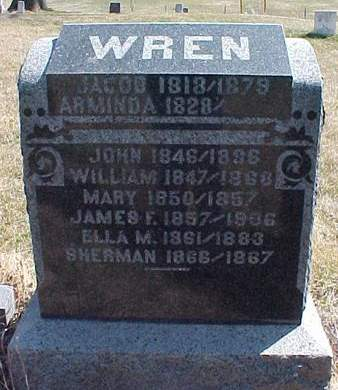 WREN, MARY - Louisa County, Iowa | MARY WREN