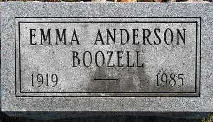 BOOZELL ANDERSON, EMMA MILDRED - Lucas County, Iowa | EMMA MILDRED BOOZELL ANDERSON