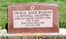 BULMAN, CECELIA - Lucas County, Iowa | CECELIA BULMAN