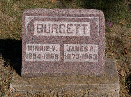 BURGETT, MINNIE V. - Lucas County, Iowa | MINNIE V. BURGETT