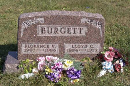 BURGETT, FLORENCE  V. - Lucas County, Iowa | FLORENCE  V. BURGETT