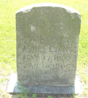 EVANS, WANIETTA AGNES - Lucas County, Iowa | WANIETTA AGNES EVANS
