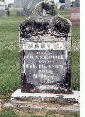 FUDGE, MARY M. - Lucas County, Iowa | MARY M. FUDGE