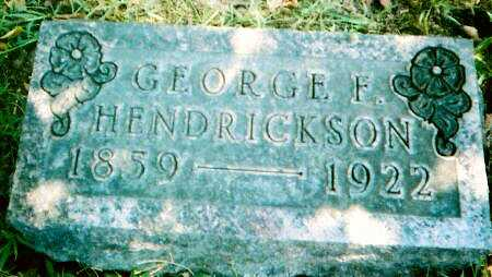 HENDRICKSON, GEORGE B. - Lucas County, Iowa | GEORGE B. HENDRICKSON