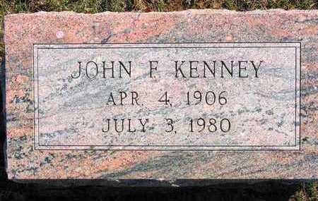 KENNEY, JOHN F - Lucas County, Iowa | JOHN F KENNEY