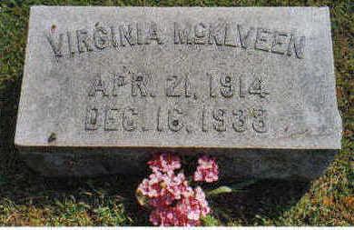 MCKLVEEN, VIRGINIA - Lucas County, Iowa   VIRGINIA MCKLVEEN