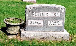 RETHERFORD, FLORA J. - Lucas County, Iowa | FLORA J. RETHERFORD
