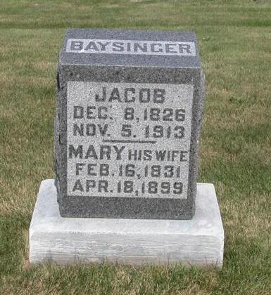 BAYSINGER, JACOB - Lyon County, Iowa   JACOB BAYSINGER