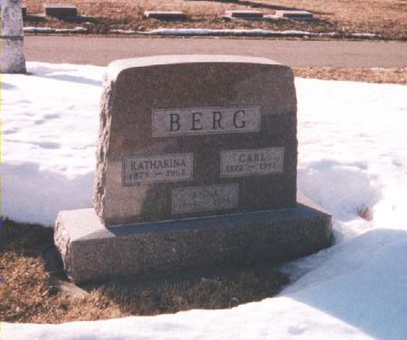 BERG, CARL F - Lyon County, Iowa | CARL F BERG