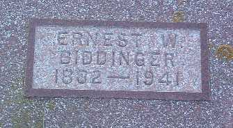 BIDDINGER, ERNEST W. - Lyon County, Iowa | ERNEST W. BIDDINGER