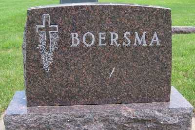 BOERSMA, HEADSTONE - Lyon County, Iowa | HEADSTONE BOERSMA
