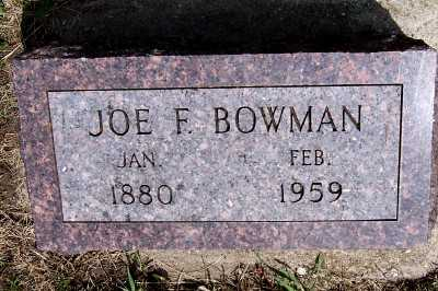 BOWMAN, JOE F. - Lyon County, Iowa | JOE F. BOWMAN
