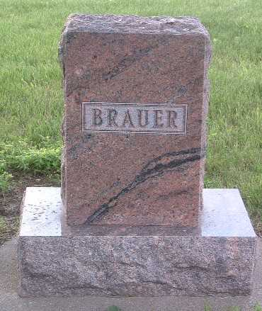 BRAUER, FAMILY HEADSTONE - Lyon County, Iowa | FAMILY HEADSTONE BRAUER