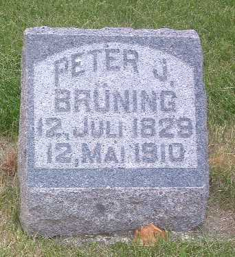 BRUNING, PETER J. - Lyon County, Iowa | PETER J. BRUNING