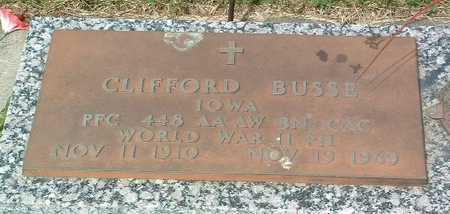 BUSSE, CLIFFORD - Lyon County, Iowa   CLIFFORD BUSSE