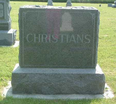 CHRISTIANS, HEADSTONE - Lyon County, Iowa | HEADSTONE CHRISTIANS