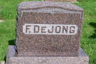 DEJONG, F. FAMILY HEADSTONE - Lyon County, Iowa | F. FAMILY HEADSTONE DEJONG