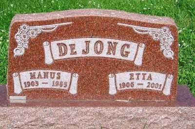 DEJONG, MANUS - Lyon County, Iowa | MANUS DEJONG