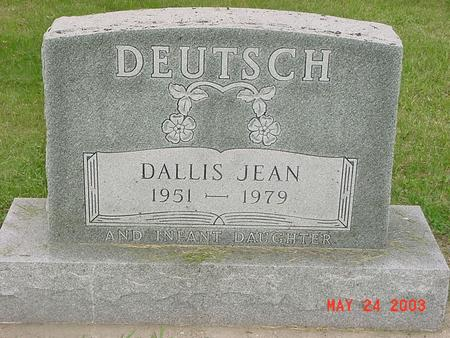 HANSMANN DEUTSCH, DALLIS JEAN - Lyon County, Iowa | DALLIS JEAN HANSMANN DEUTSCH