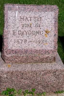 DEYOUNG, HATTIE (MRS. R. SR.) - Lyon County, Iowa | HATTIE (MRS. R. SR.) DEYOUNG