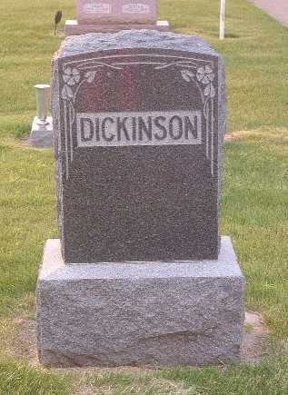 DICKINSON, HEADSTONE - Lyon County, Iowa | HEADSTONE DICKINSON