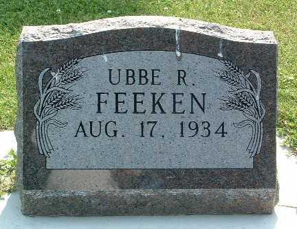 FEEKEN, UBBE R. - Lyon County, Iowa | UBBE R. FEEKEN