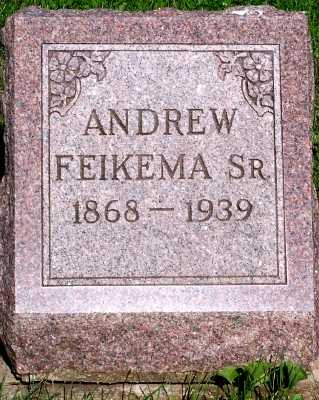 FEIKEMA, ANDREW SR. - Lyon County, Iowa | ANDREW SR. FEIKEMA