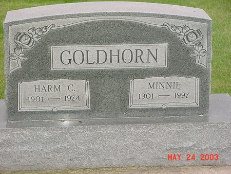 GOLDHORN, MINNIE - Lyon County, Iowa | MINNIE GOLDHORN