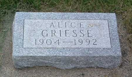GRIESSE, ALICE - Lyon County, Iowa | ALICE GRIESSE
